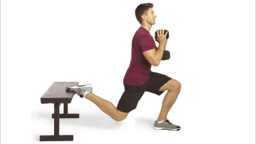 Single-leg split squat jumps with weight